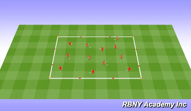 Football/Soccer Session Plan Drill (Colour): RWTB - Find the space