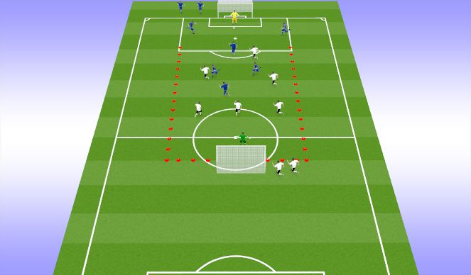 Football/Soccer Session Plan Drill (Colour): 7vs7