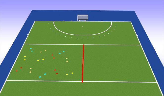 Hockey Session Plan Drill (Colour): Stick&Ball