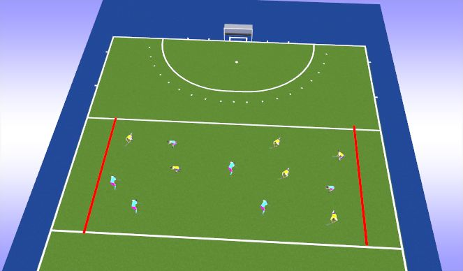 Hockey Session Plan Drill (Colour): 6v6