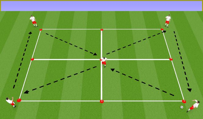 Football/Soccer Session Plan Drill (Colour): Technical Passing/Receiving