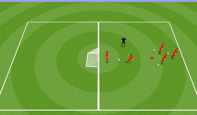 Football/Soccer Session Plan Drill (Colour): Shoot/Defend