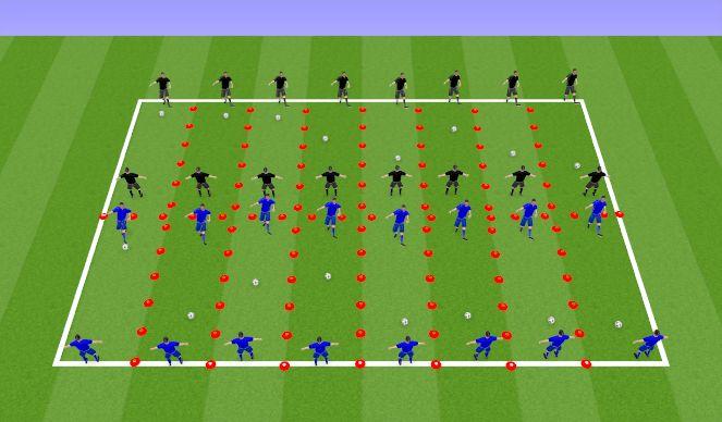Football/Soccer Session Plan Drill (Colour): Пассинг Дрилл