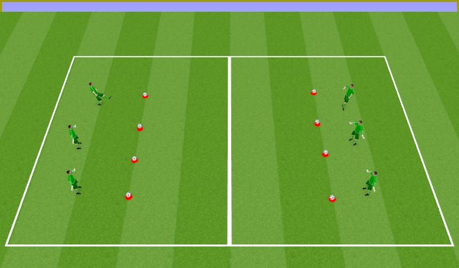 Football/Soccer Session Plan Drill (Colour): Opening game scenario