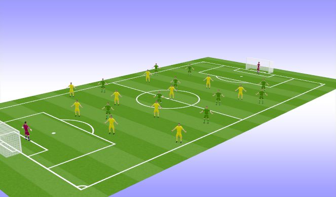 Football/Soccer Session Plan Drill (Colour): Игра