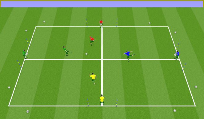 Football/Soccer Session Plan Drill (Colour): Fun finish