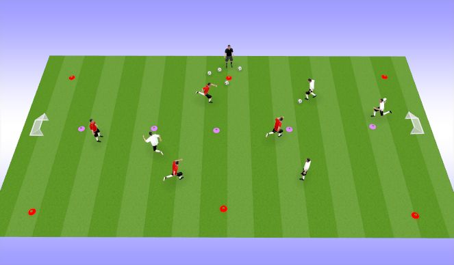 Football/Soccer Session Plan Drill (Colour): 4v4 Games as a station