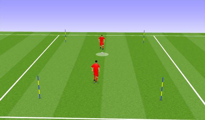 Football/Soccer Session Plan Drill (Colour): Mäng 1v1