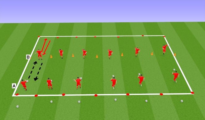 Football/Soccer Session Plan Drill (Colour): TECHNICAL 2 PLAYERS
