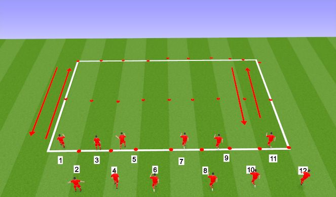 Football/Soccer Session Plan Drill (Colour): CONDITIONING / CORE