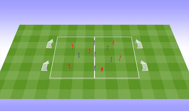 Football/Soccer Session Plan Drill (Colour): Passing /Pressing