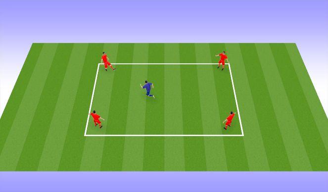 Football/Soccer Session Plan Drill (Colour): Rondo/Warm Ups