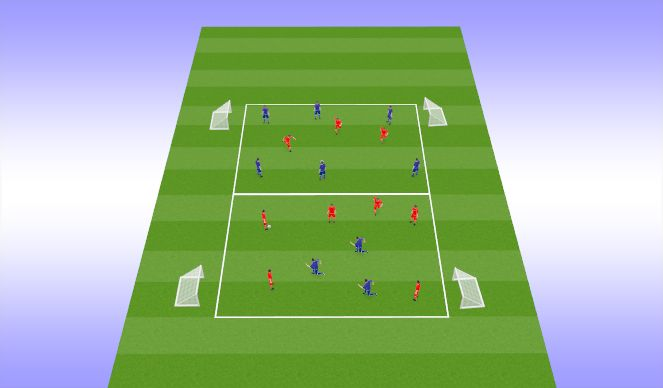 Football/Soccer Session Plan Drill (Colour): Pressing game part1