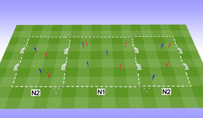 Football/Soccer Session Plan Drill (Colour): D