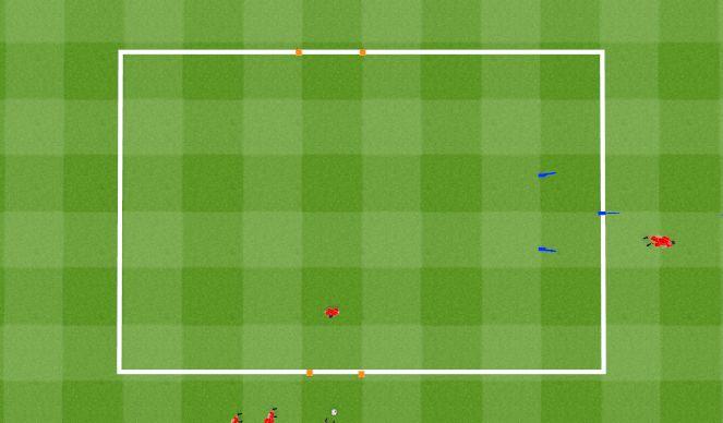 Football/Soccer Session Plan Drill (Colour): 6 man passing drill using the 3rd man. Ćwiczenie z podaniem z wykorzystaniem Trzeciego Zawodnika.