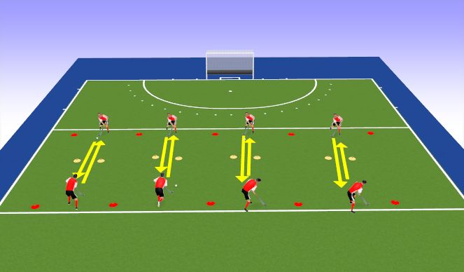 Hockey Session Plan Drill (Colour): Technical Passing + Receiving