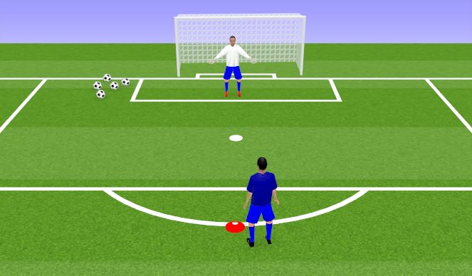 Football/Soccer Session Plan Drill (Colour): Power