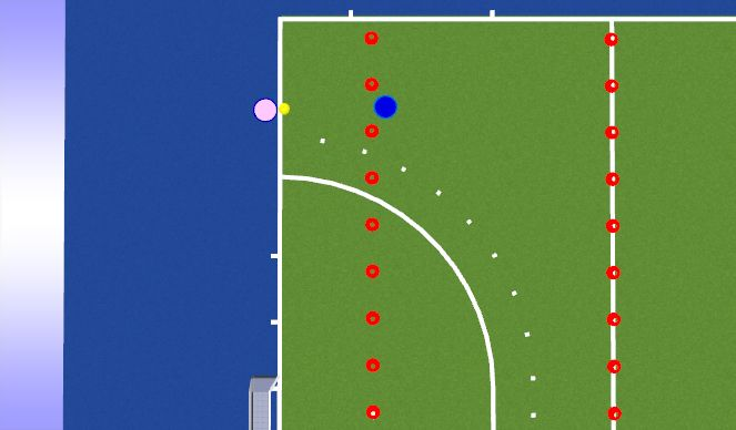 Hockey Session Plan Drill (Colour): Snap Move Snap