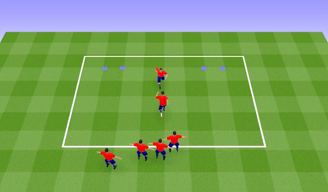 Football/Soccer Session Plan Drill (Colour): Change Direction