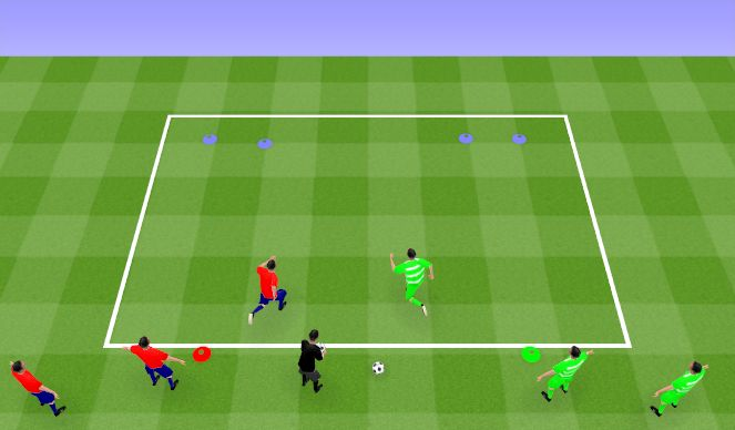Football/Soccer Session Plan Drill (Colour): Quick reaction