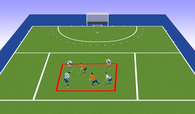 Hockey Session Plan Drill (Colour): Ball carrying game