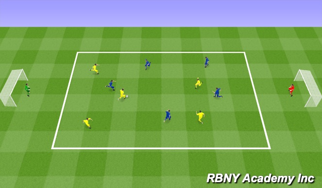 Football/Soccer Session Plan Drill (Colour): Overlap condition game