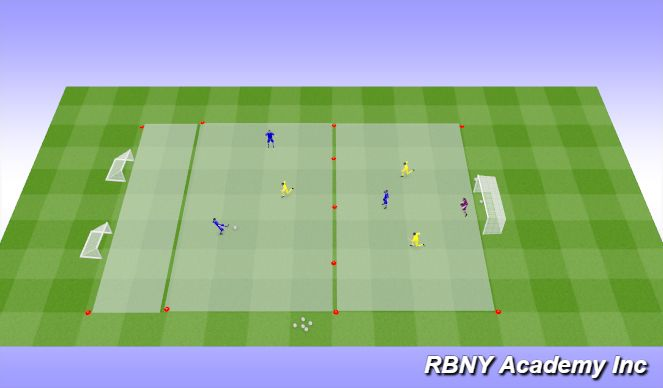 Football/Soccer Session Plan Drill (Colour): Condition - 6v6