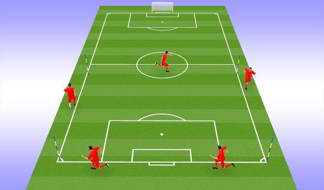Football/Soccer Session Plan Drill (Colour): Tempo Jog/Walk