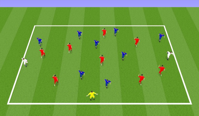 Football/Soccer Session Plan Drill (Colour): FB 1