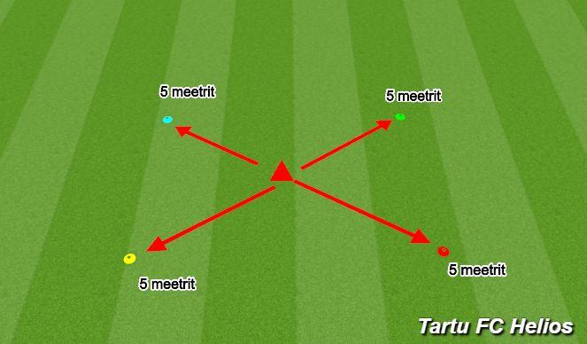 Football/Soccer Session Plan Drill (Colour): Reageerimine/stardikiirus