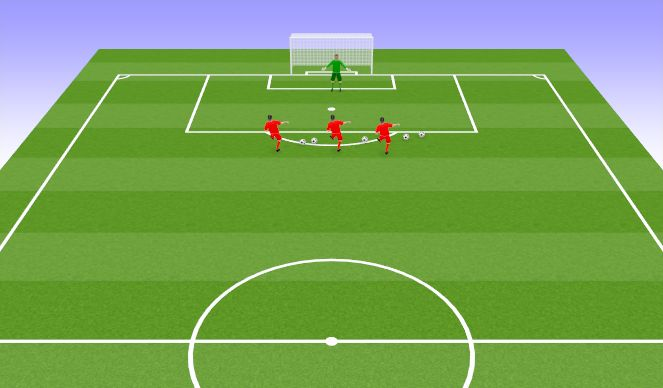 Football/Soccer Session Plan Drill (Colour): warm up basic handling