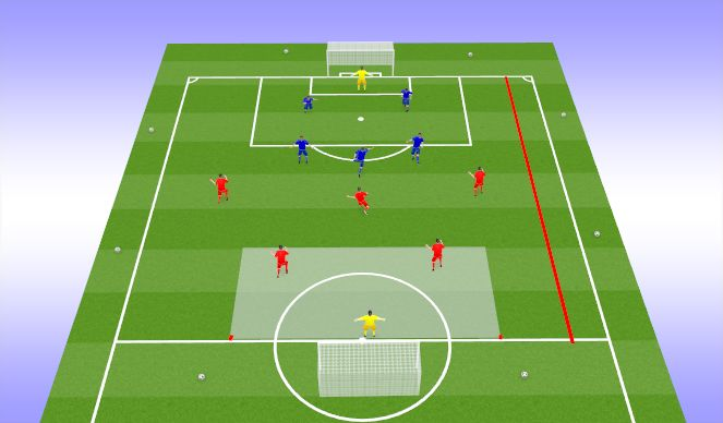 Football/Soccer Session Plan Drill (Colour): SSG Final Game