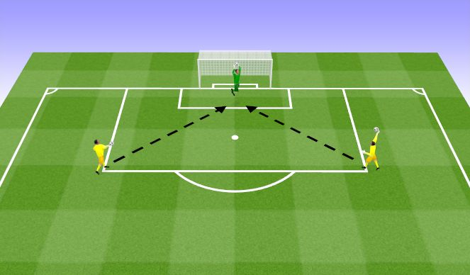 Football/Soccer Session Plan Drill (Colour): Angled ball