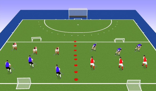 Hockey Session Plan Drill (Colour): Connect 4