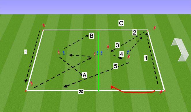 Football/Soccer Session Plan Drill (Colour): Levante