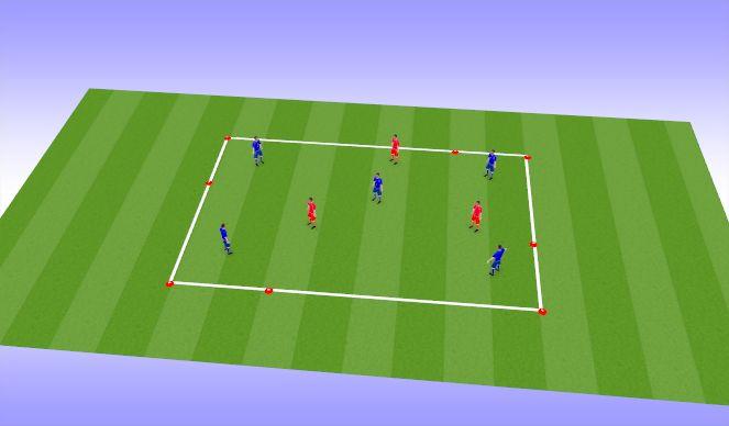 Football/Soccer Session Plan Drill (Colour): Posession 5v3