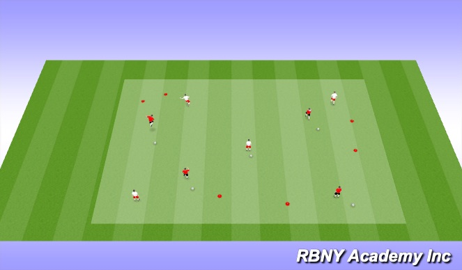 Football/Soccer Session Plan Drill (Colour): Passers & Dribblers