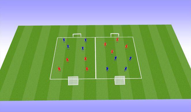 Football/Soccer Session Plan Drill (Colour): Tournament 4v4 (25min)