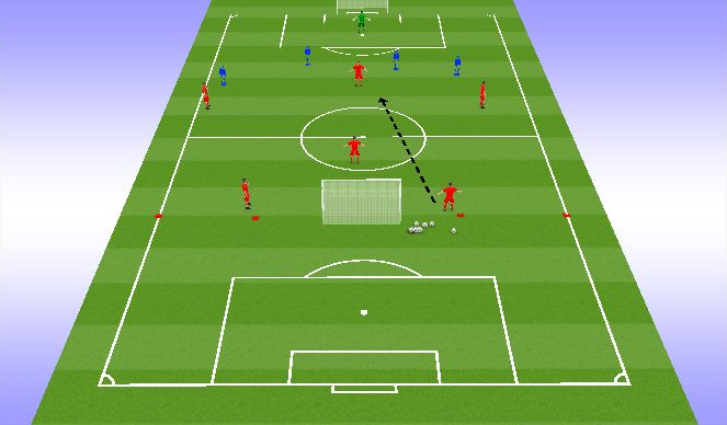 Football/Soccer Session Plan Drill (Colour): Warm-up Shadow Play