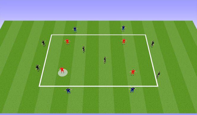 Football/Soccer Session Plan Drill (Colour): Rondo-Possession