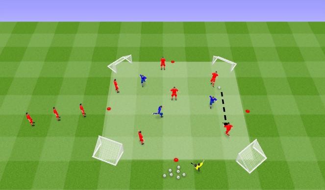 Football/Soccer Session Plan Drill (Colour): 8vs4