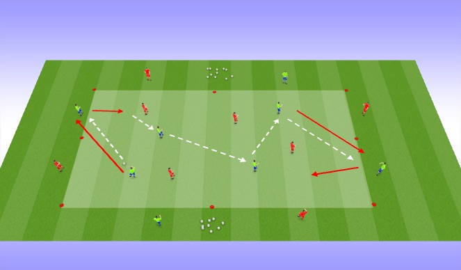 Football/Soccer Session Plan Drill (Colour): Take the space, fill the space