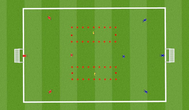 Football/Soccer Session Plan Drill (Colour): Aangepaste vorm half spaces (Arthur)