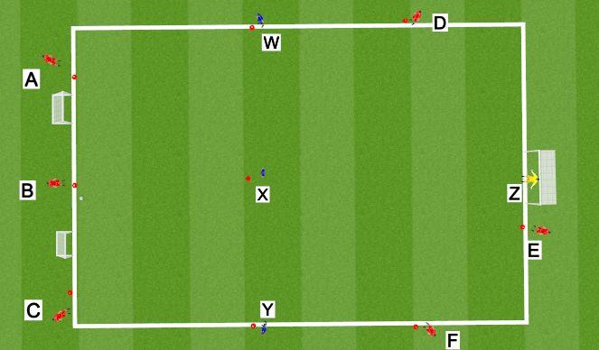 Football/Soccer Session Plan Drill (Colour): Aangepaste wedstrijdvorm 2 (Werner Hendrickx)