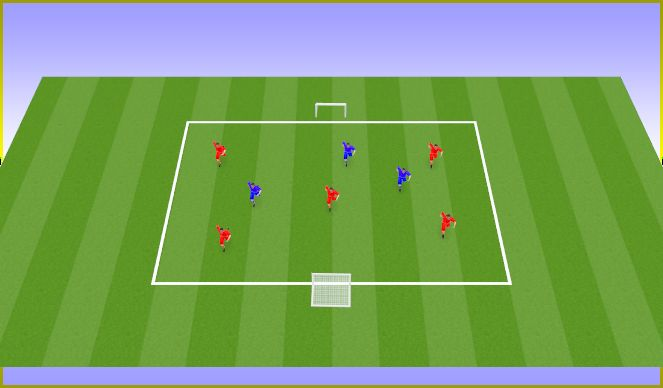 Football/Soccer Session Plan Drill (Colour): Presion trás perdida