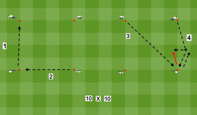 Football/Soccer Session Plan Drill (Colour): Ball Tech 1-4