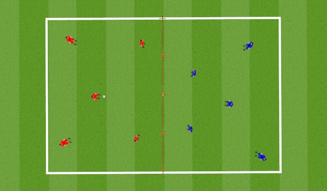 Football/Soccer Session Plan Drill (Colour): Voetbaltennis
