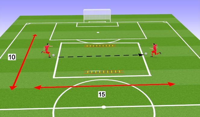 Football/Soccer Session Plan Drill (Colour): Passing, dribbling and juggling