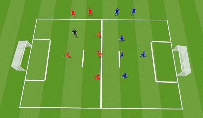 Football/Soccer Session Plan Drill (Colour): Play 4v4