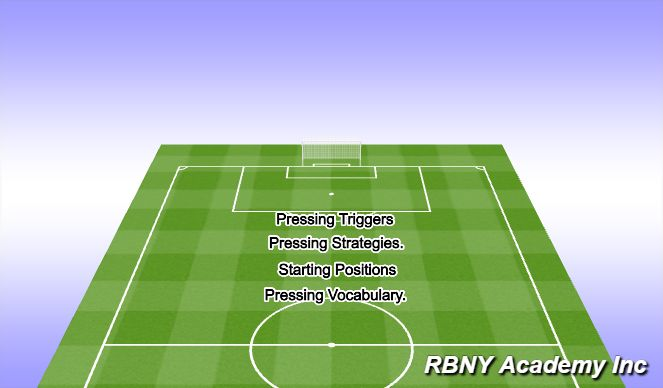 Football/Soccer Session Plan Drill (Colour): Pressing Details.
